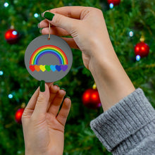 Load image into Gallery viewer, Rainbow Hearts Ceramic Ornament