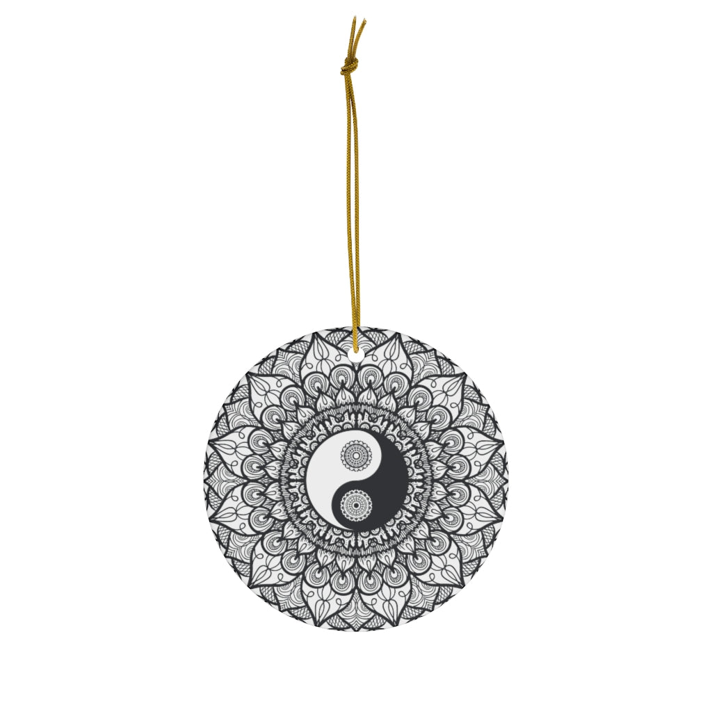 Yin/Yang Ceramic Ornament
