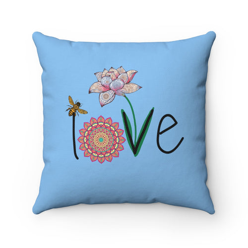 LOVE Spun Polyester Square Pillow