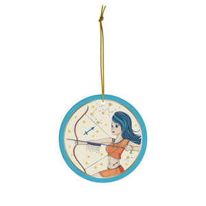 Sagittarius Ceramic Ornament