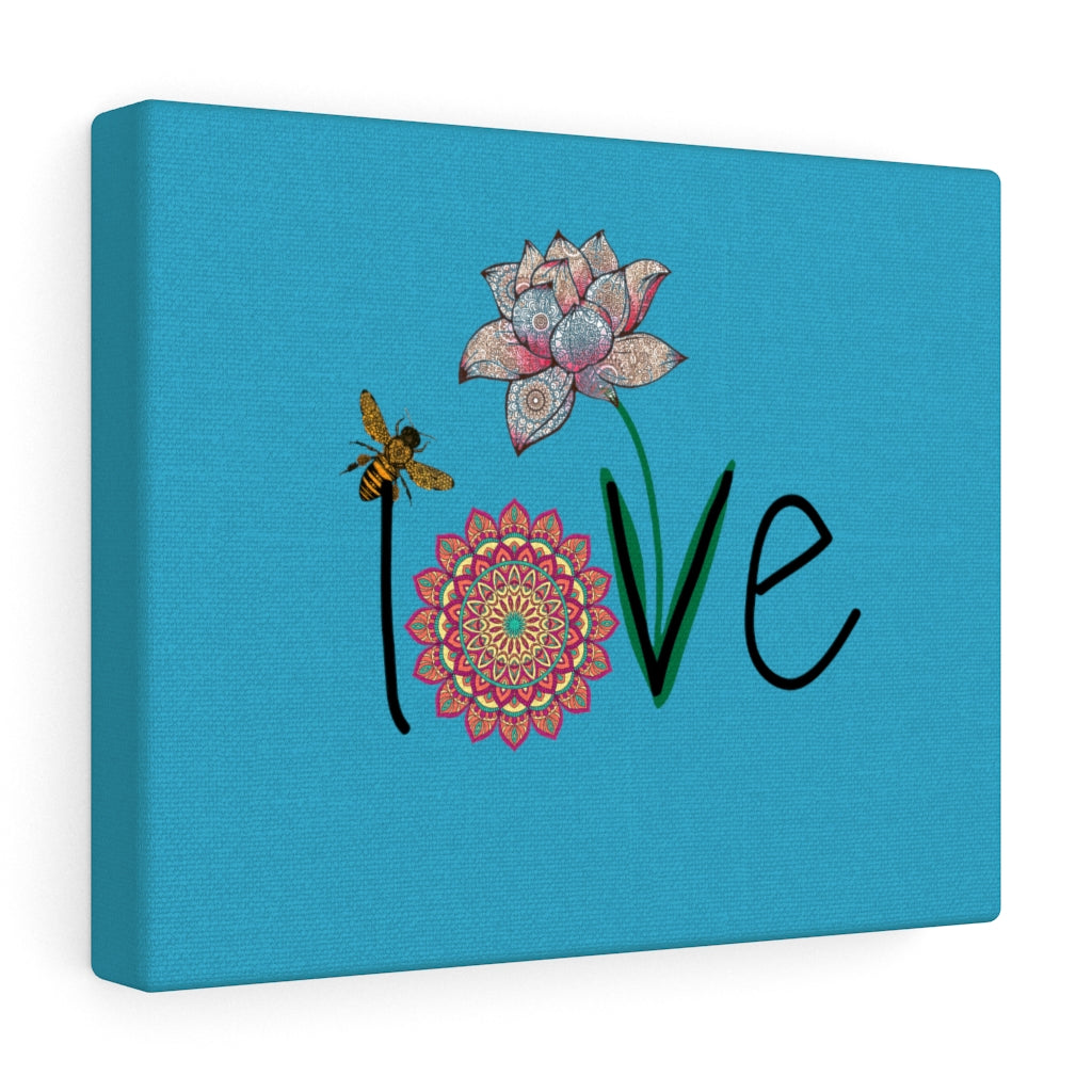 LOVE-Teal Canvas Gallery Wrap