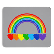 Load image into Gallery viewer, Rainbow Hearts Mousepad