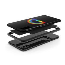 Load image into Gallery viewer, Rainbow Hearts Case Mate Tough iPhone Case