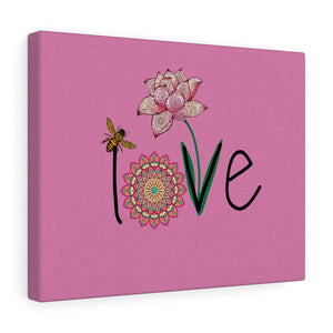 LOVE-Pink Canvas Gallery Wrap