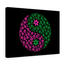 Load image into Gallery viewer, Flowers Yin/Yang Canvas Gallery Wrap