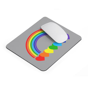 Rainbow Hearts Mousepad