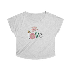 LOVE Women's Tri-Blend Dolman T-Shirt