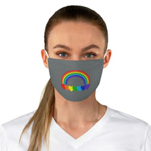 Load image into Gallery viewer, Rainbow Hearts Fabric Face Cover