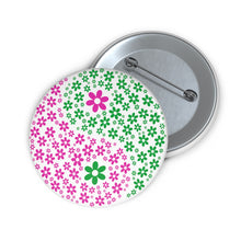 Load image into Gallery viewer, Flowers Yin/Yang Pin Buttons