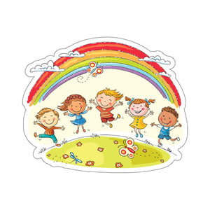 Rainbow Kids Kiss-Cut Stickers