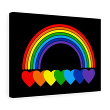 Load image into Gallery viewer, Rainbow Hearts Canvas Gallery Wraps