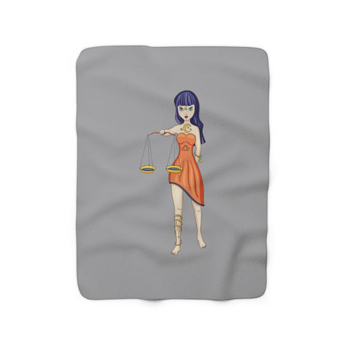 Libra Sherpa Fleece Blanket