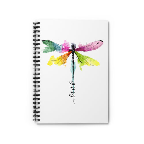 Dragonfly Spiral Notebook - Ruled Line