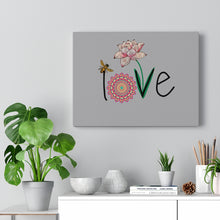 Load image into Gallery viewer, LOVE-Silver Canvas Gallery Wrap