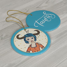 Load image into Gallery viewer, Taurus Ceramic Ornament