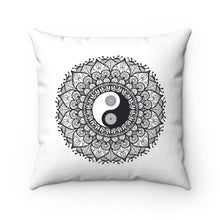 Load image into Gallery viewer, Yin/Yang Spun Polyester Square Pillow