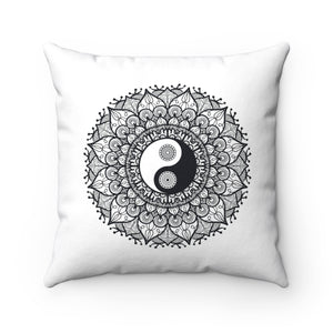 Yin/Yang Spun Polyester Square Pillow