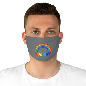 Rainbow Hearts Fabric Face Cover