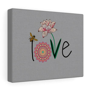 LOVE-Silver Canvas Gallery Wrap
