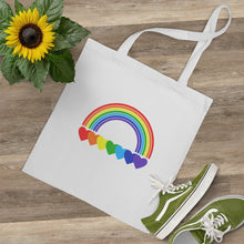 Load image into Gallery viewer, Rainbow Hearts Tote Bag
