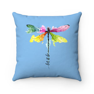 Dragonfly Spun Polyester Square Pillow