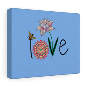 LOVE-Blue Canvas Gallery Wrap