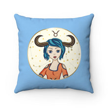 Load image into Gallery viewer, Taurus Spun Polyester Square Pillow