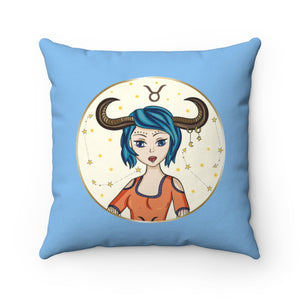 Taurus Spun Polyester Square Pillow