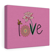 Load image into Gallery viewer, LOVE-Pink Canvas Gallery Wrap