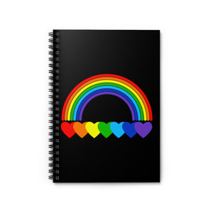 Rainbow Hearts Spiral Notebook - Ruled Line