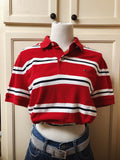 Re-worked Tommy Hilfiger Striped Crop Top Sz Med