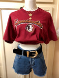 Custom FSU Cinched Crop Top