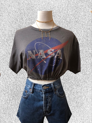 NASA Cinched Crop Top