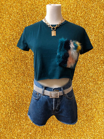 Funky Furry Crop Top
