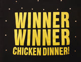 Winner Winner Chicken Dinner Rhinestone Crop Top Sz Lrg