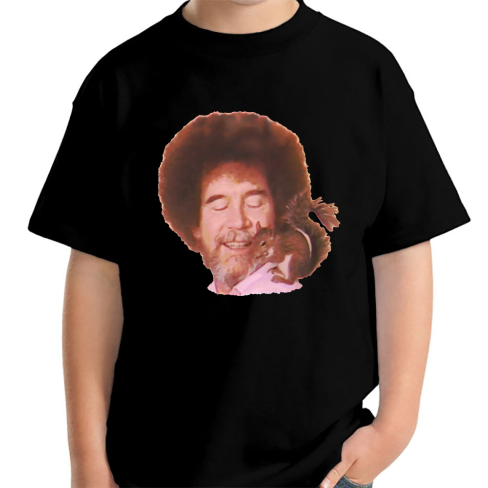 Bob Ross Loves All Gods Creatures Young T Shirt Tepi Store