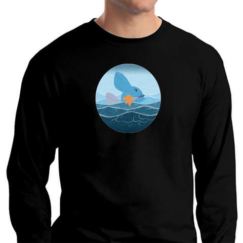 71a4e92b7 Team Mudkip Long Sleeve T-Shirt Black / S T-Shirt - TEPI Store