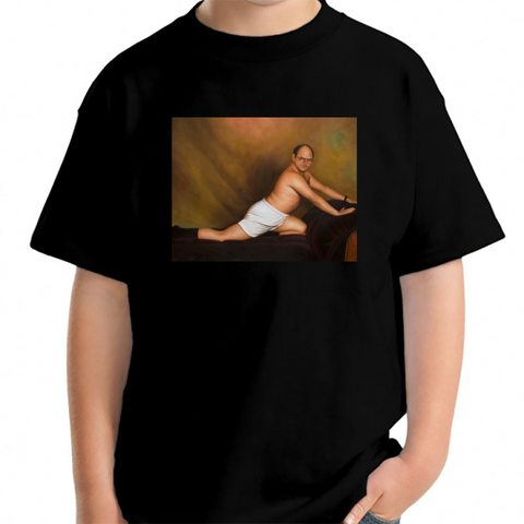 4a6cafa22 Seinfeld George Costanza Timeless Art Of Seduction Painting Young T-Shirt  Black / XS Young