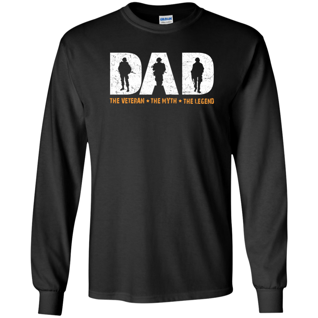 a473c881 Dad The Veteran The Myth The Legend Youth LS T-Shirt T-Shirts ...