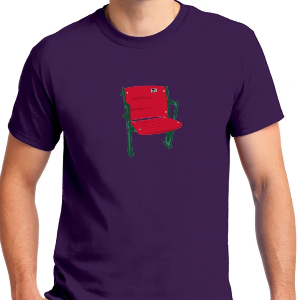 Excellent The Lone Red Seat Red Sox Fenway Park Mens T Shirt Dailytribune Chair Design For Home Dailytribuneorg