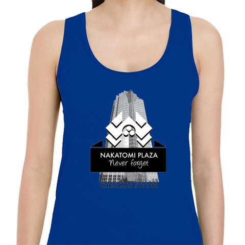 never forget nakatomi plaza christmas eve 1988 womens tank top royal blue s tank top