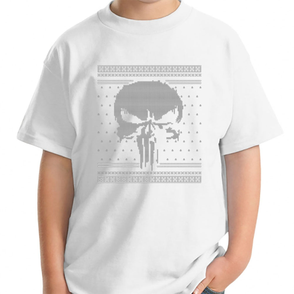 83fd964dae346 The Punisher - Netflix Logo - Christmas Knit Young T-Shirt Young - TEPI  Store