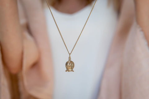 Memorial Gold Ash Necklace Cast Poppy Seed Headby Cast and Found