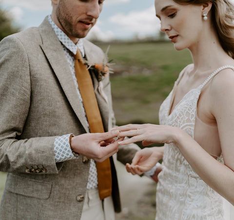 Alturnative wedding bands from blog by Cast & Found