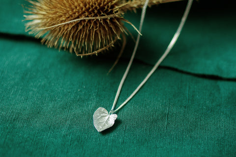 Silver Cast Ivy Heart Leaf necklace by Cast & Found