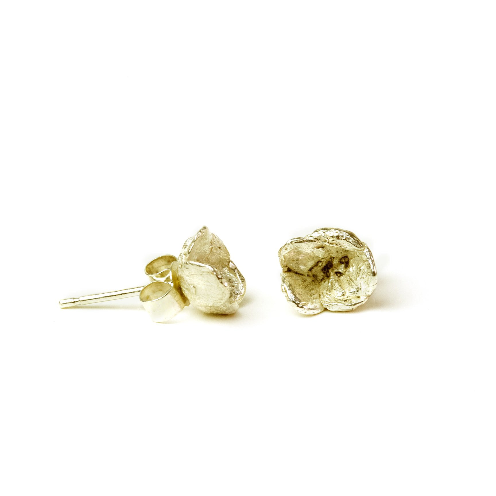 Small Blueweed Flower Stud Earrings