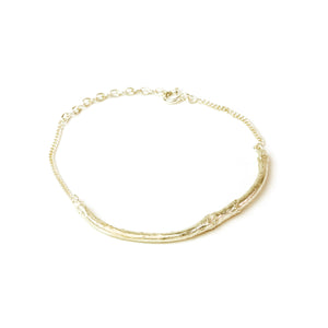 Gold Twig Bracelet on white background