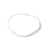 Silver Twig Bracelet on white background