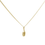 gold Spruce Drop Pendant on white background