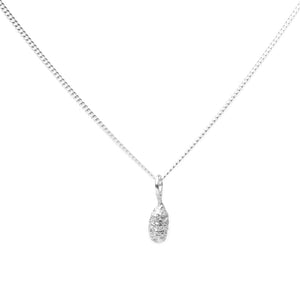 silver Spruce Drop Pendant on white background